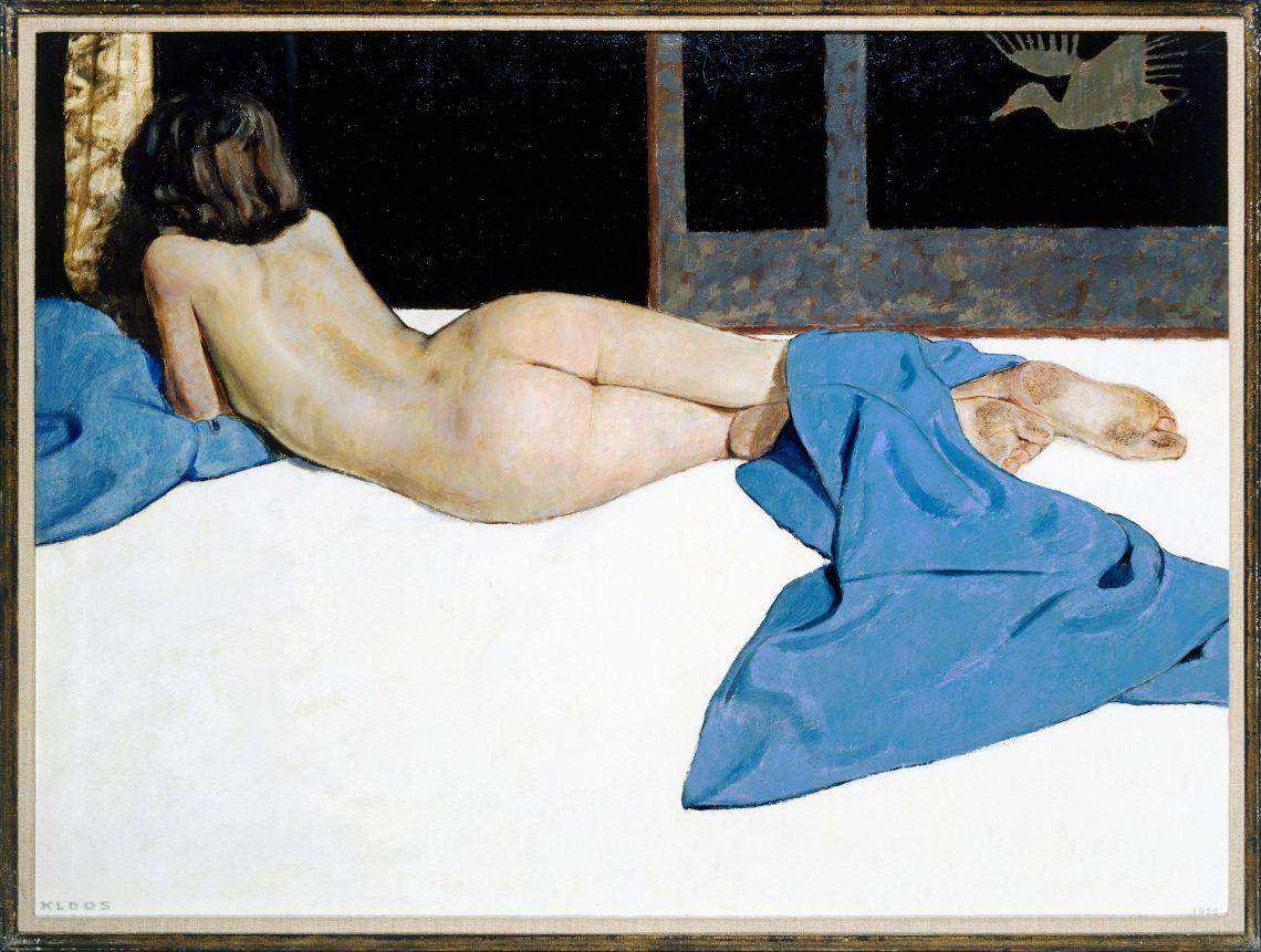 naakt met blauwe doek 2