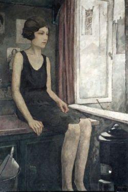 jonge vrouw bij een raam